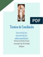 Tecnicas de Conciliacion Cej