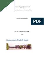 Cours de Francais Economique