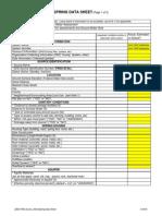 Spring Data Sheet