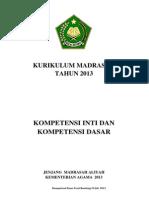 Kurikulum 2013 Madrasah Alqur'an Hadits