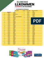 Calendario de Entregas Diario El Mundo