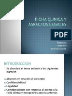 Ficha Clinica y Aspectos Legales