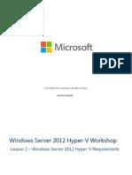 Lesson 2 - Windows Server 2012 Hyper-V Requirements