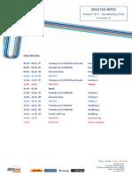 2014 FIA WTCC Timetable Slovakia Ring