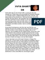 Biography of Divya Bharti by Manasvi Raj Mehta