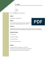 resume for edu 250