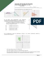 Ficha de Trabalho Isometrias 8ºano