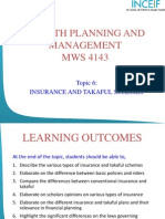 Topic 6 - Insurance and Takaful