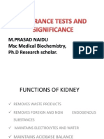 RFT Creatinine Clearance Test
