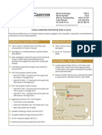 Gold Canyon Resources-factsheet