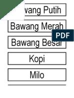 Tagging Barang