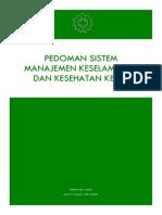 Manual (Pedoman) Sistem Manajemen Keselamatan Dan Kesehatan Kerja