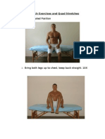 Stomach Exercises and Quad Stretches