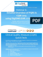 Webinar 6 - Detailed Overview of PQRS and CQM 2014 | Digidms.com