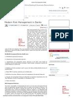 Modern Risk Management in Banks