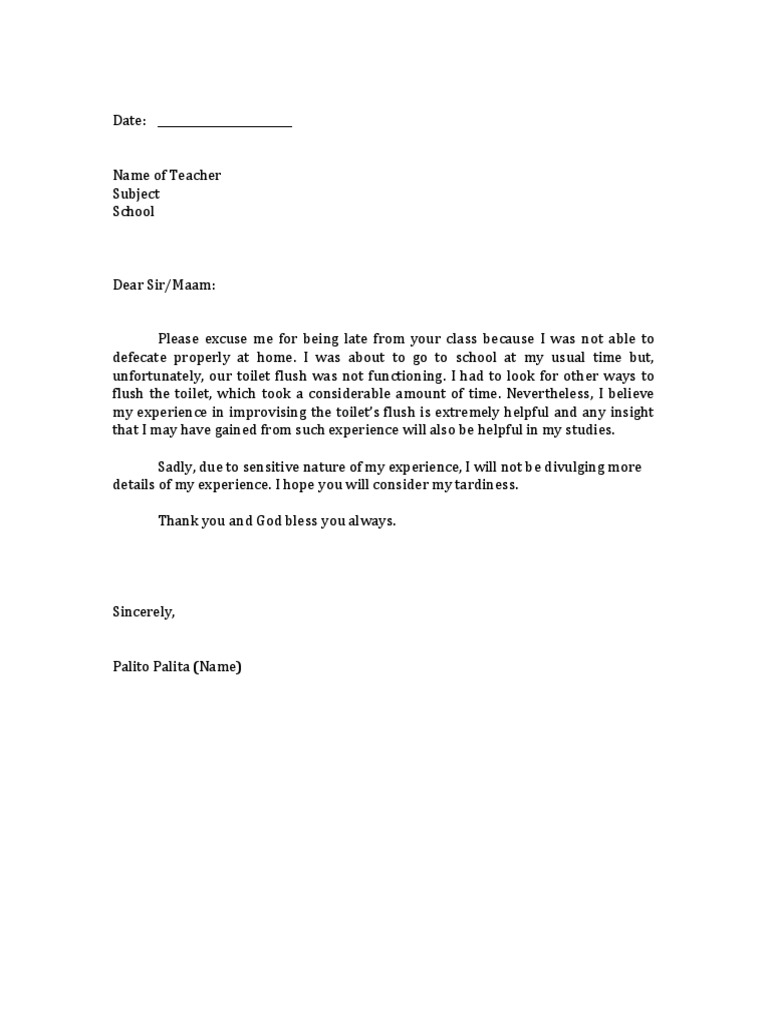 excuse letter for late submission of project excuse letter student tardiness 27880