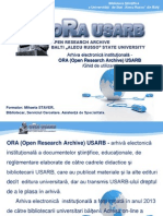 Arhiva electronică instituţională -  ORA (Open Research Archive) USARB