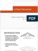 Design of steel roof Trusses
