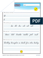 Cursive Practice Page b