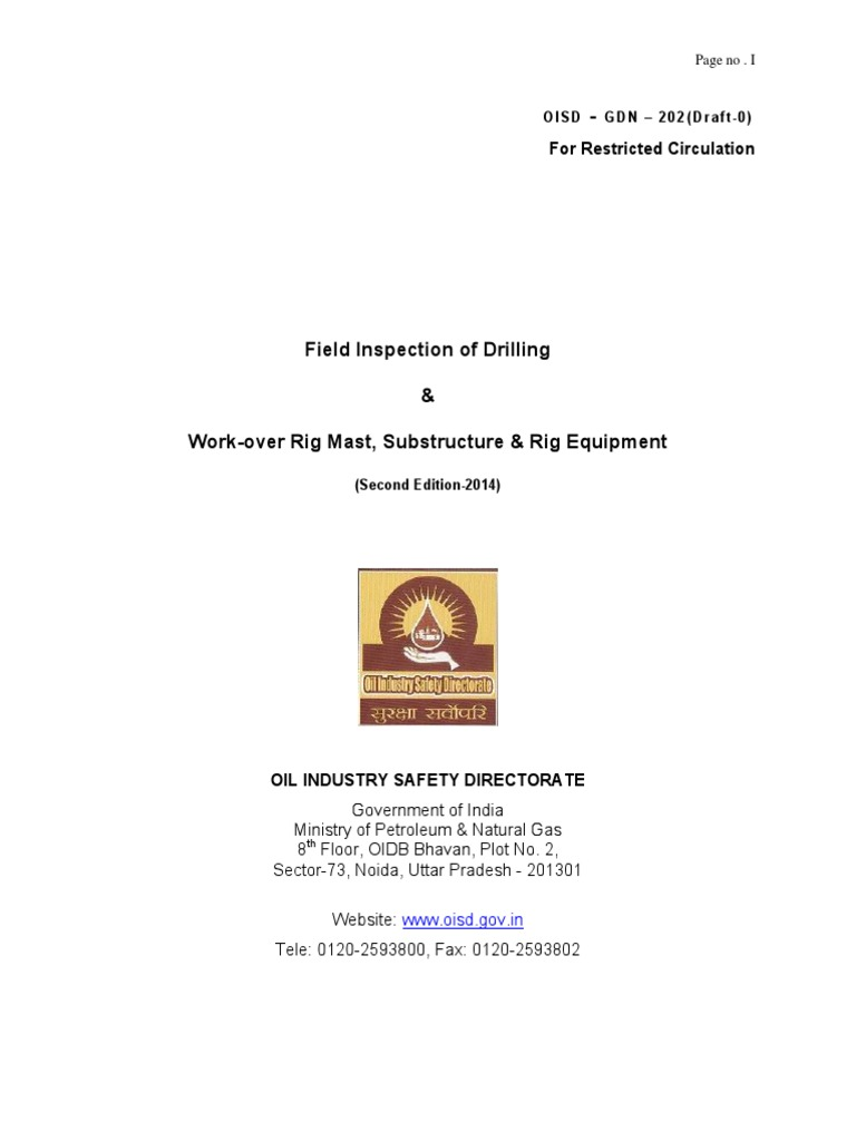 Field Inspection of Drilling and Work Over Rig Mast Substructure and Rig  Equipment | Drilling Rig | Nondestructive Testing