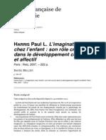 Harris Paul L. L'Imagination Chez l'Enfant Dans Le Développement Cognitif Et Affectif