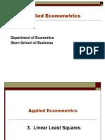 Econometrics Module 3