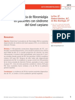 Prevalencia de fibromialgia  en pacientes con síndrome  del túnel carpiano
