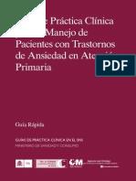 Guía de Práctica Clíncia Para Pacientes Con Trast. de Ansiedad