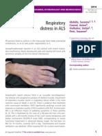Respiratory  distress in ALS