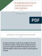 Keadaan Kesehatan Bayi Dan Anak Balita Di Indonesia