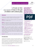 The influence of music on time and number of steps in the gait of children with cerebral palsy