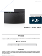 Wireless N 150 Easy Router