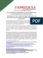 Comunicado AFAPREDESA Reaccion Resolucion de la ONU abril 2014