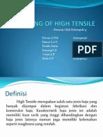 Welding of High Tensile