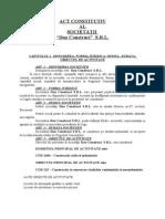 Act Constitutiv SRL 2 Asociati Persoane Juridice