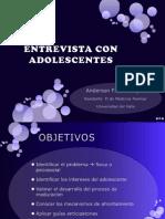 Entrevista Al Adolescente