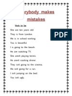 Verb to Be Mistakes