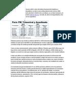 PBI Tercer Trimestre 2013 Peru