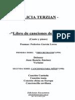 Alicia Terzian Libro de Canciones de Lorca Para Canto y Piano
