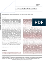 Antimicrobial Screening of Some Turkish Medicinal Plants