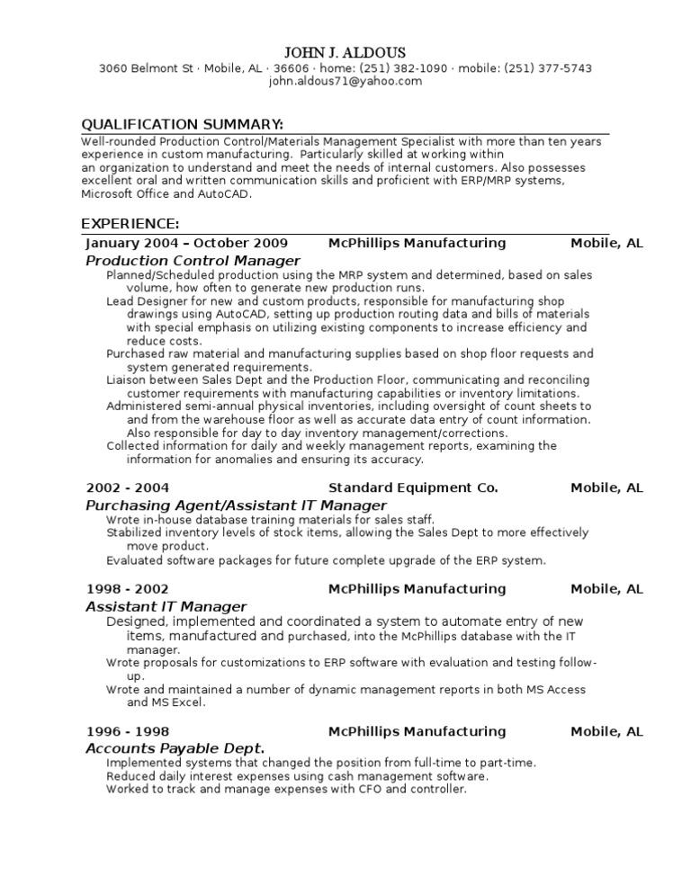 John Aldous Resume | Inventory (39 views)