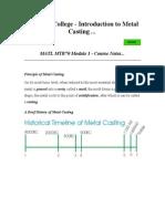 Casting Module