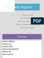 Tablet Aspirin