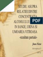 Studiu Asupra Relatiei Dintre Concentratia Alcoolului PDF