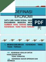 1.1 Pengenalan Kepada Ekonomi