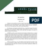 Legal Pulse First Quarter Newsletter 05-02-14