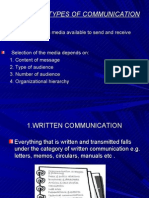Bc_media and Types of Communication Written Non Verbal and Verbal