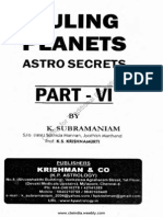 Astro Secrets and Krishnamurthy Paddhati Part VI