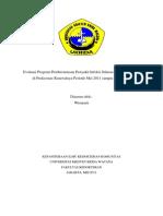 Evaluasi Program Pemberantasan Penyakit Ispa