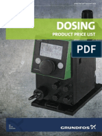 Dosing Product price list by Grundfos